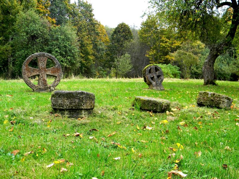 An old cemetery royalty free stock photography