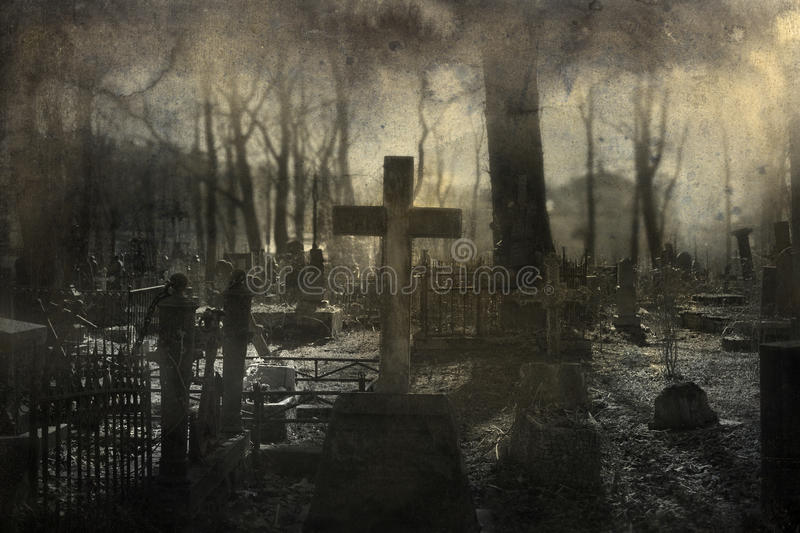 Download Old cemetery stock image. Image of landscape, tomb, digital - 56574303
