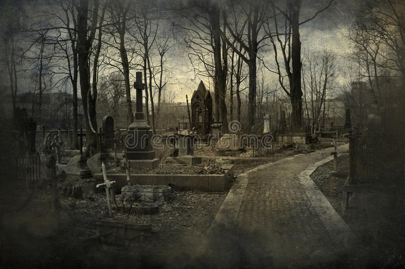 Download Old cemetery stock photo. Image of decay, dramatic, grunge - 56574332