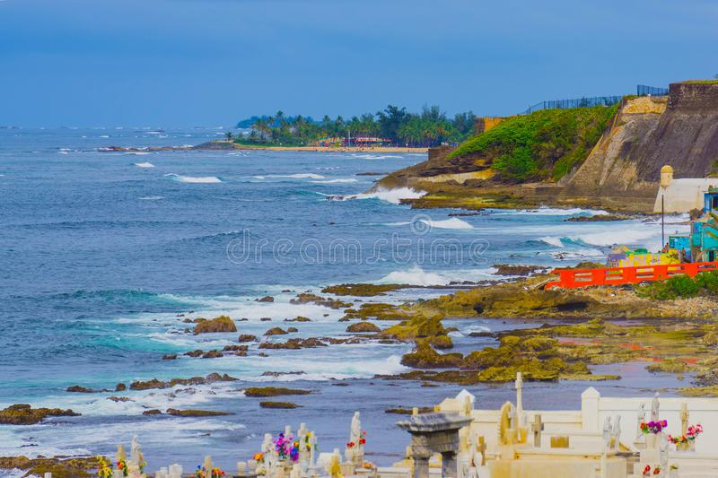 The old Cemetery at San Juan at Puerto Rico stock photography