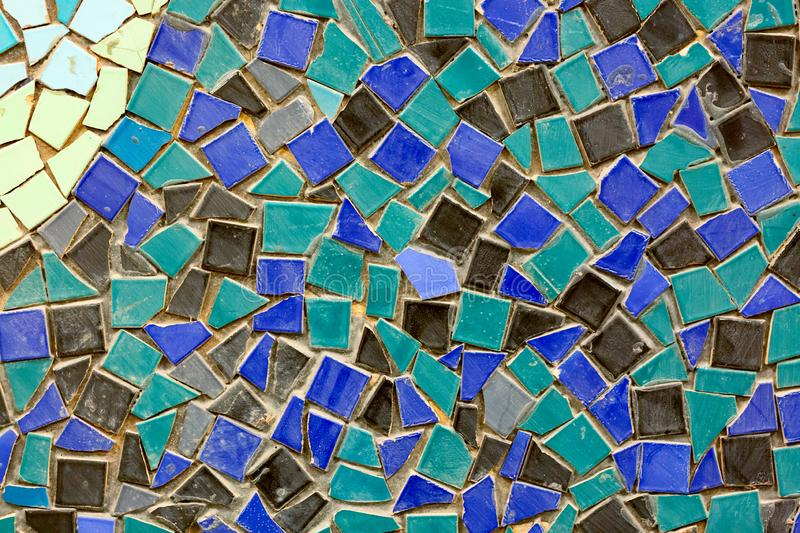 Old ceramic mosaic wall as a background.  royalty free stock photo