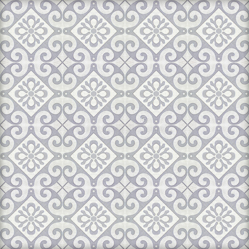 Old ceramic tiles patterns stock photography