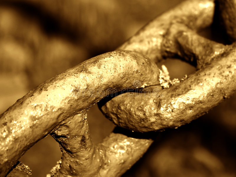 Download Old chain. Detail. stock image. Image of team, tether, detail - 20533