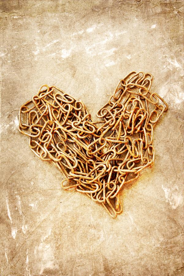 Old chain on grunge background stock photos