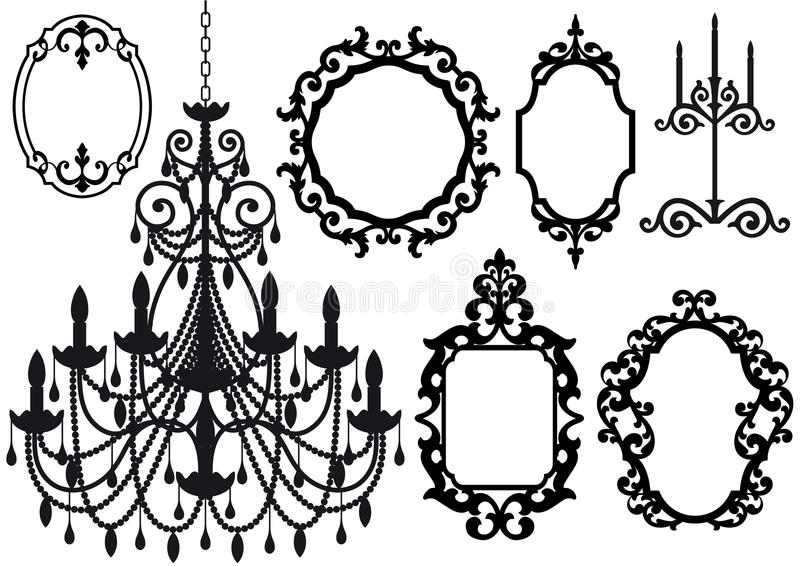 Download Old Chandelier And Picture Frames Royalty Free Stock Photo - Image: 13123535