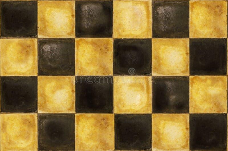 Old checkerboard retro floor royalty free stock image