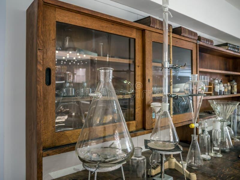 Old chemical classroom stock photos