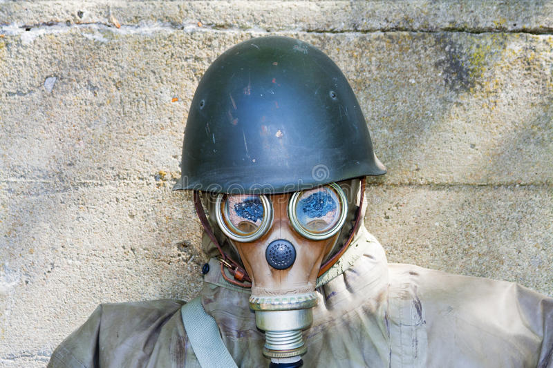 Old chemical protection stock image