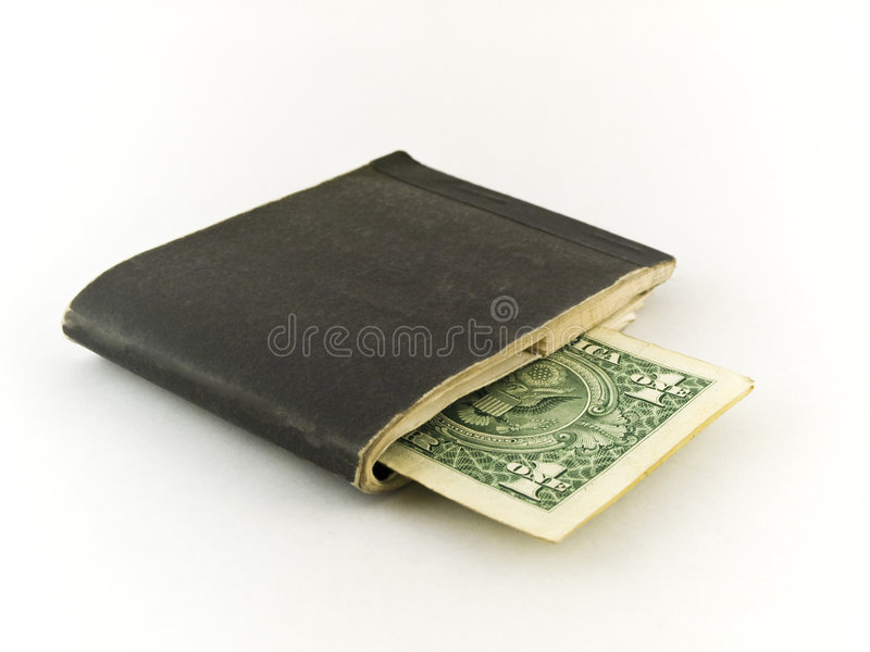 Download Old Chequebook And One Dollar Bill On White Stock Photo - Image: 5234952