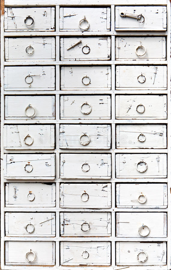 Old chest of drawers royalty free stock photos
