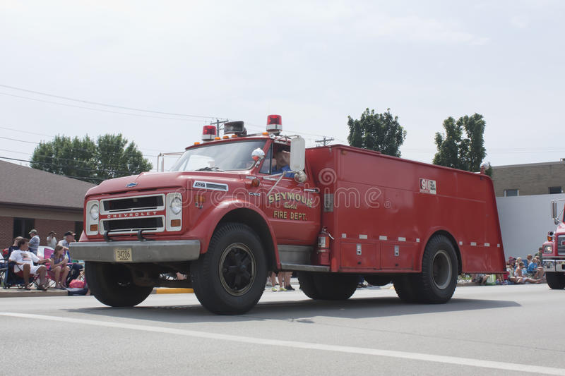 Old Chevrolet Seymour Rural Fire Department Truck royalty free stock image