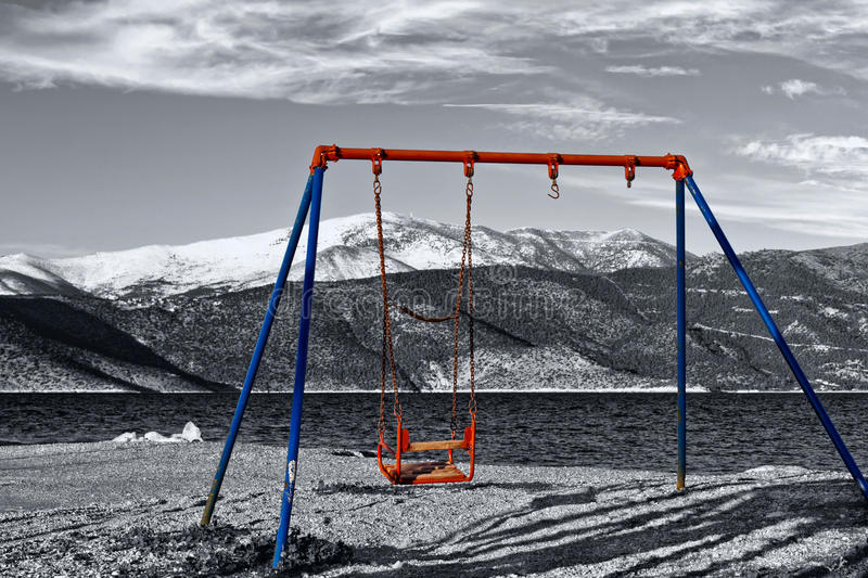 Download Old children swing stock photo. Image of abandoned, view - 18235958