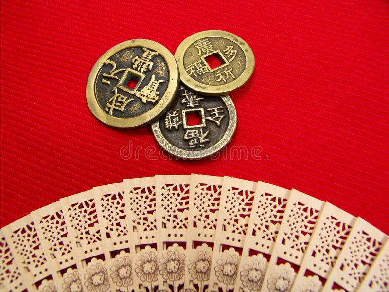 Download Old China Coins stock image. Image of chinese, aged, fengshui - 28331507
