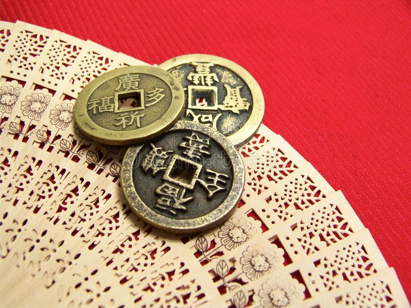 Download Old China Coins stock image. Image of asian, texture - 28331531
