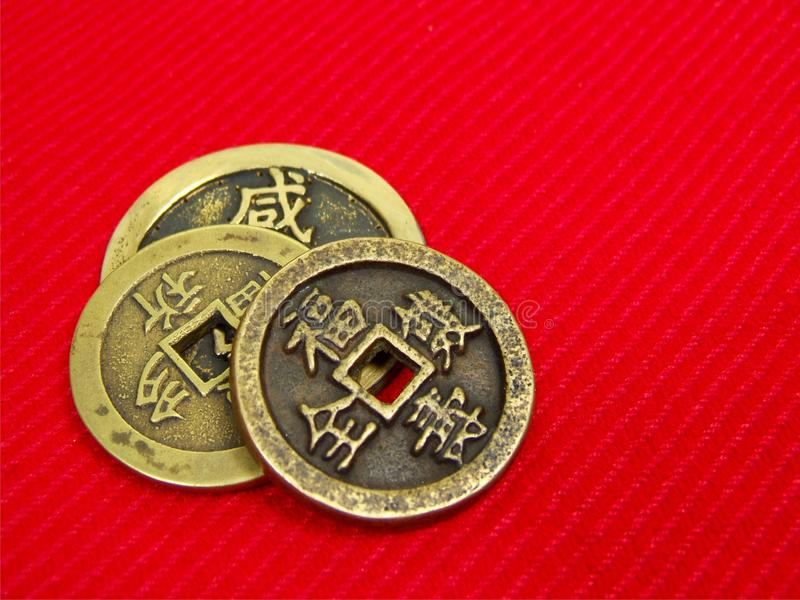 Old China Coins Stock Photos
