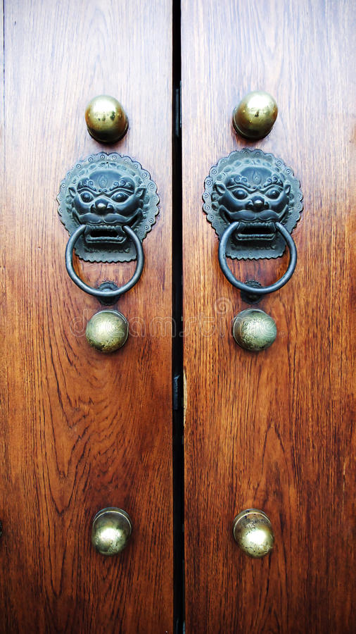 Free Old China Door Stock Photography - 19021272