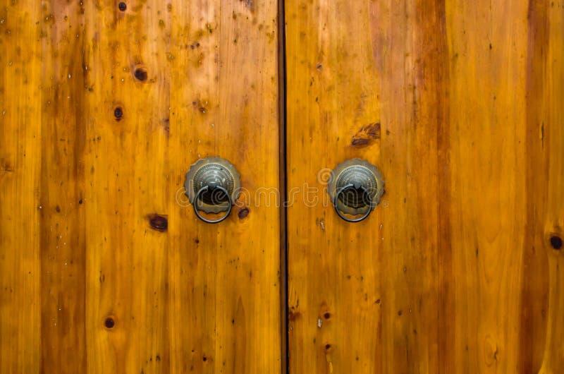 Old china door. China town traditional door guardian royalty free stock photo