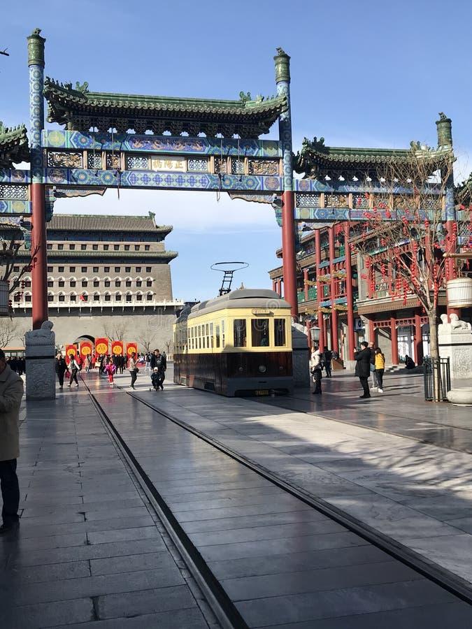 Old china market stock photography