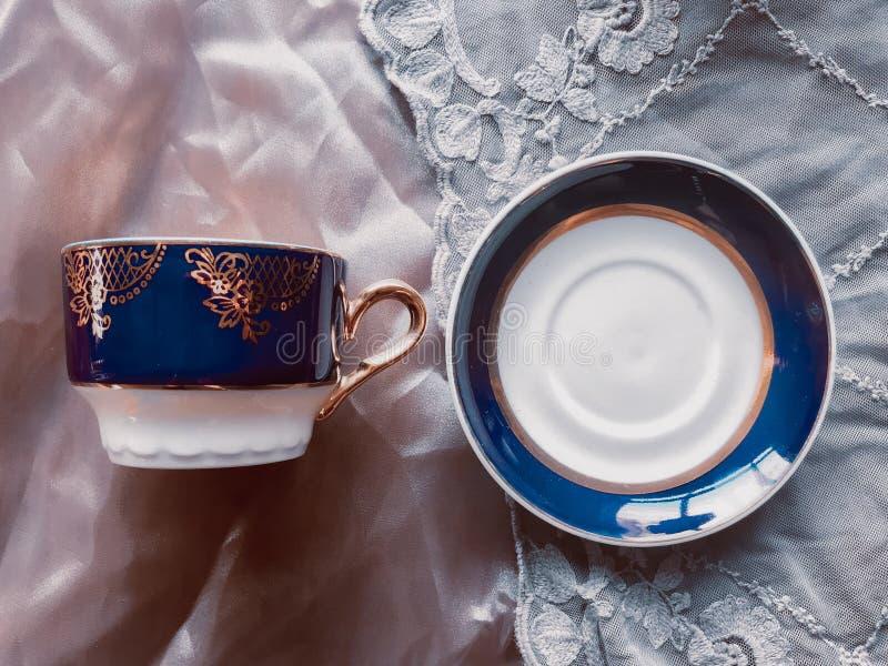 Old china tea set royalty free stock photo