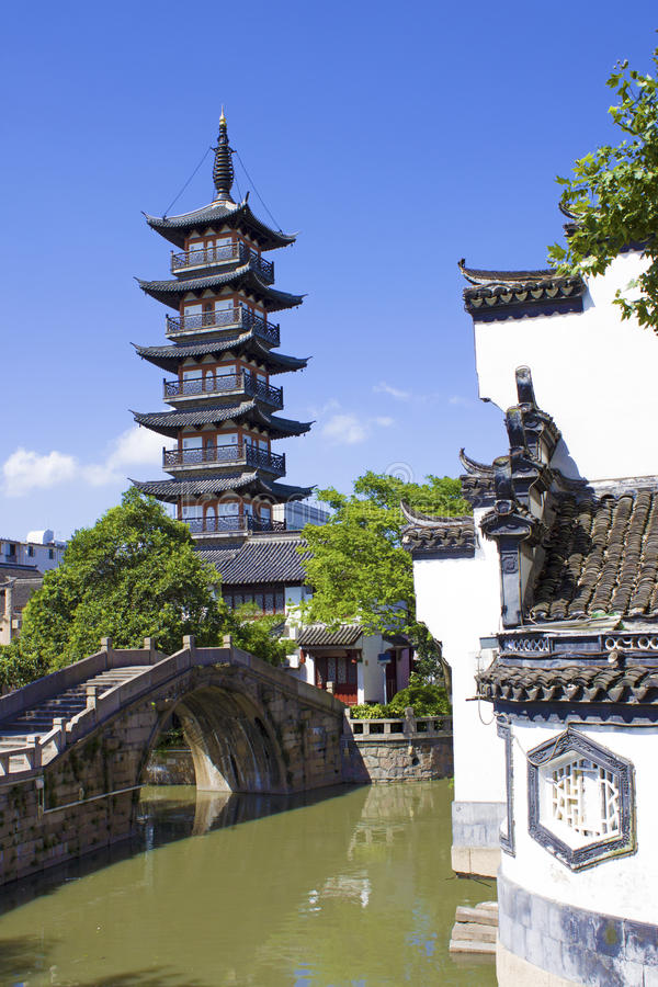Download Old China Tower In Shanghai Stock Image - Image: 25845857
