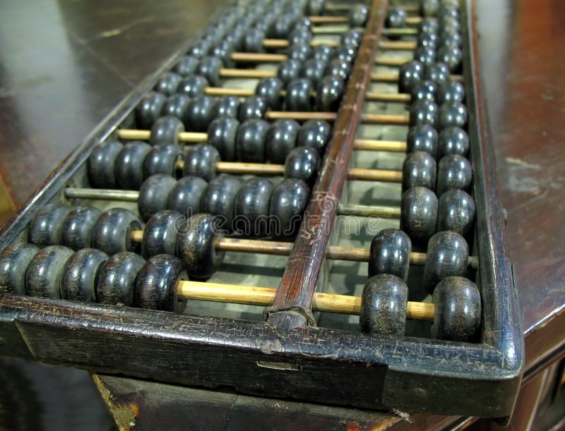 Download Old Chinese Abacus stock photo. Image of vintage, beads - 9358278