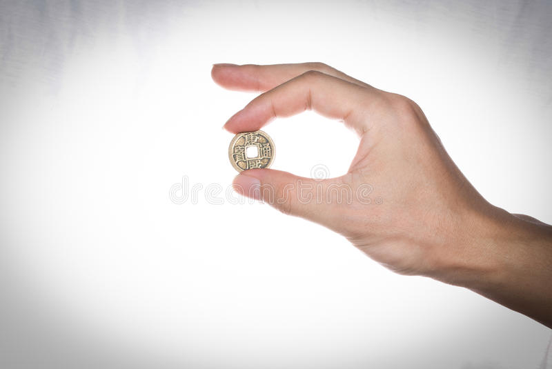 Old Chinese Brass Coins Stock Images