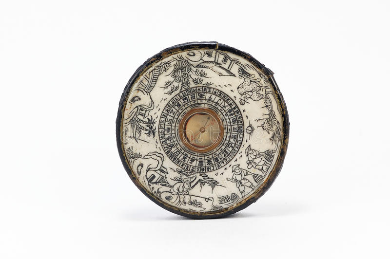 Old Chinese Compass stock photography