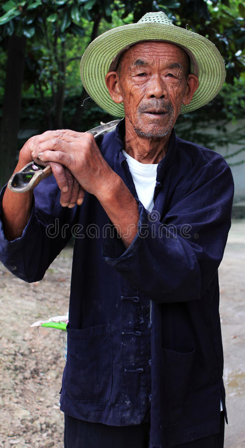 Download Old Chinese Farmer editorial photography. Image of elder - 21696187