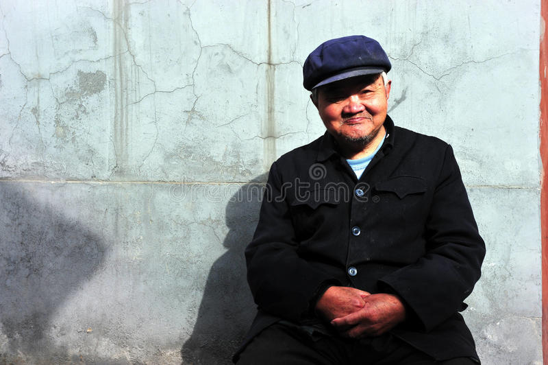 Old Chinese man royalty free stock photography