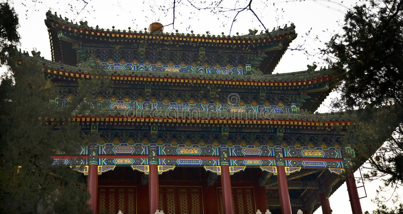 Download Old Chinese Pavilion Jingshan Park Beijing China Royalty Free Stock Images - Image: 6081199