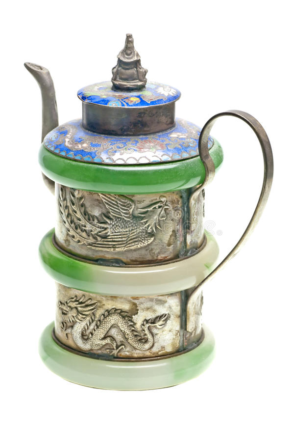 Old chinese teapot stock image