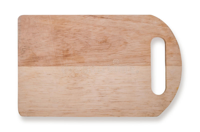 Old chopping board isolated on white background royalty free stock photos