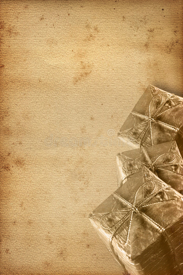 Old Christmas Paper Royalty Free Stock Images