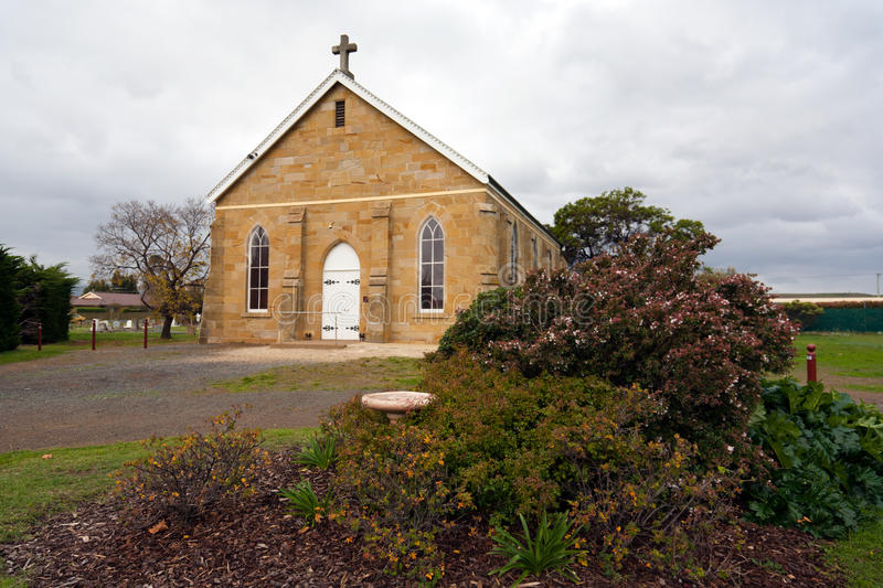 Old church. A very old sandstone church in Sorell, Tasmania, Australia royalty free stock image