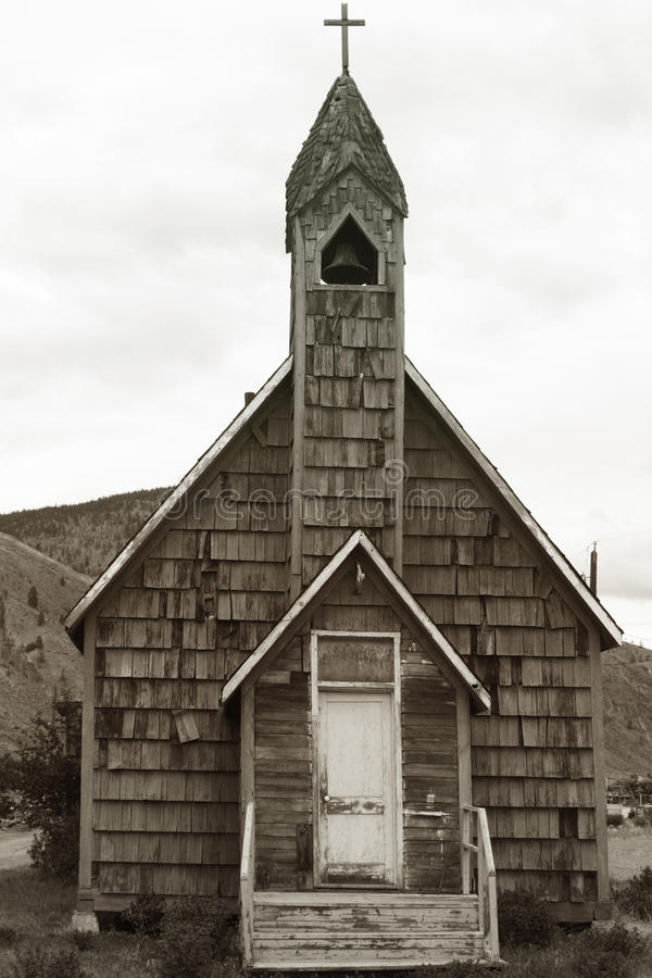 Old Church. Building in Spences Bridge, British Columbia, Canada royalty free stock image