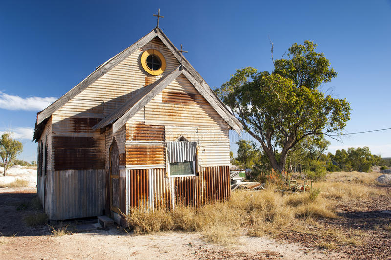 Download Old Church stock photo. Image of scenic, corrugated, outback - 25383216