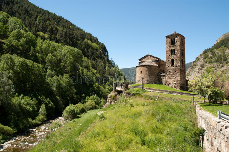 Download Old church in Andorra stock image. Image of view, catalonia - 20280461