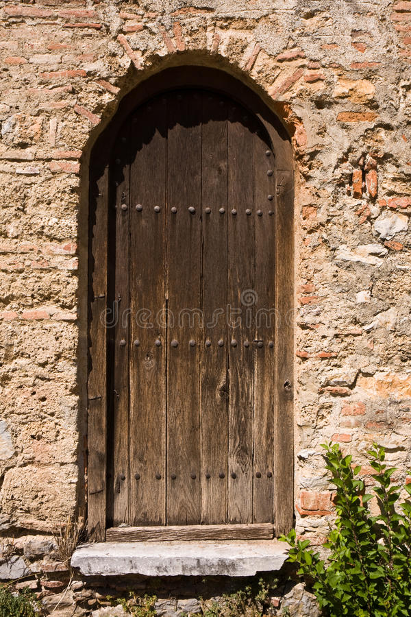 Old Church Backdoor stock image