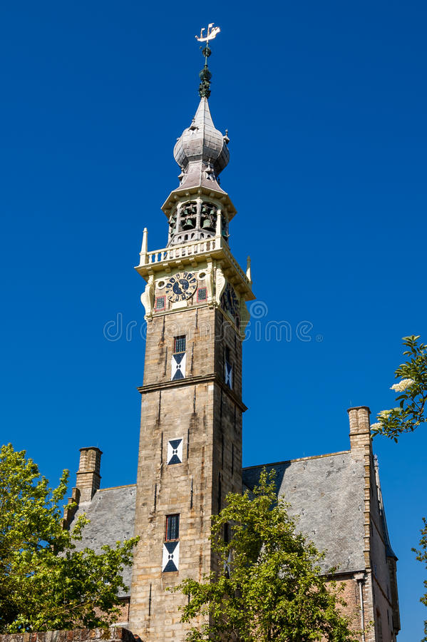 Free Old Church Bell Tower In Veere, Netherlands Royalty Free Stock Photography - 46525797