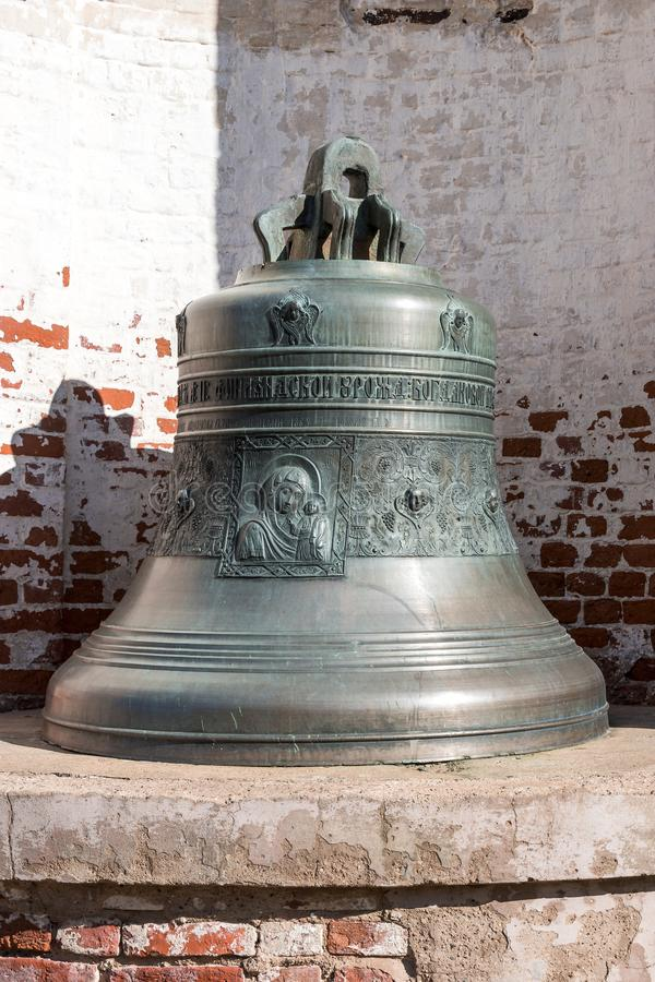 Old Church bell. Yaroslavl. Russian Federation. 2017. Old Church bell. Yaroslavl. Russian Federation. Bell established on the monastery grounds for review by stock photo