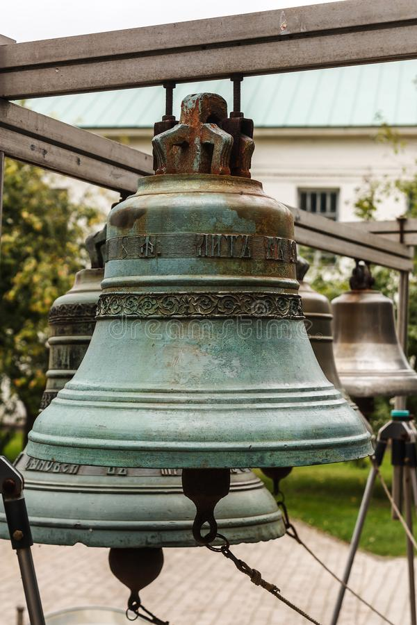 Old Church bell. Yaroslavl. Russian Federation. 2017. Old Church bell. Yaroslavl. Russian Federation. Bell established on the monastery grounds for review by royalty free stock photography