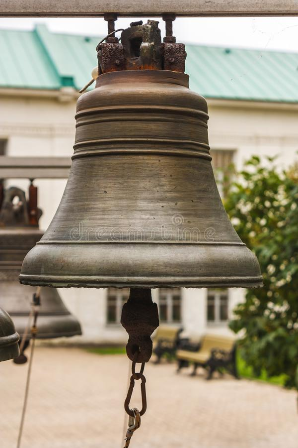 Old Church bell. Yaroslavl. Russian Federation. 2017. Old Church bell. Yaroslavl. Russian Federation. Bell established on the monastery grounds for review by royalty free stock image