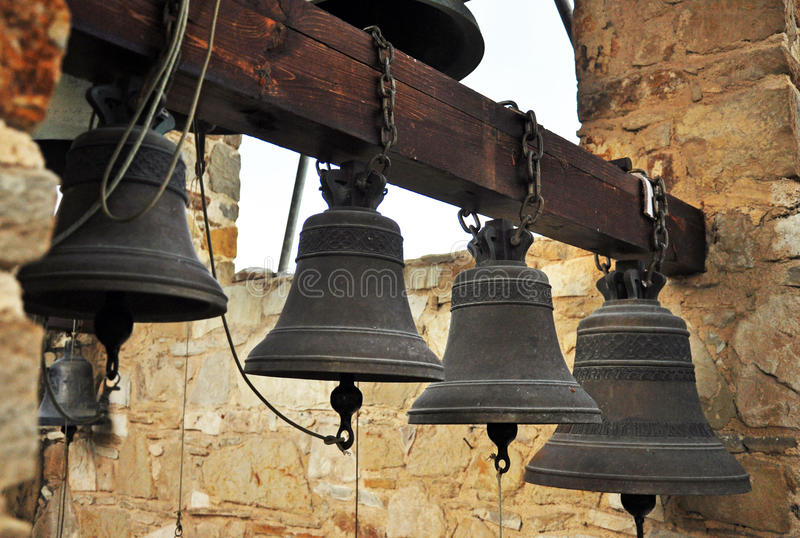 Old Church Bells. In a monastery royalty free stock photography
