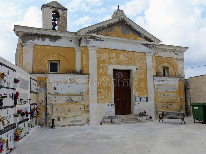 Old church of the cemetery of the island of Ponza in Italy. stock photos