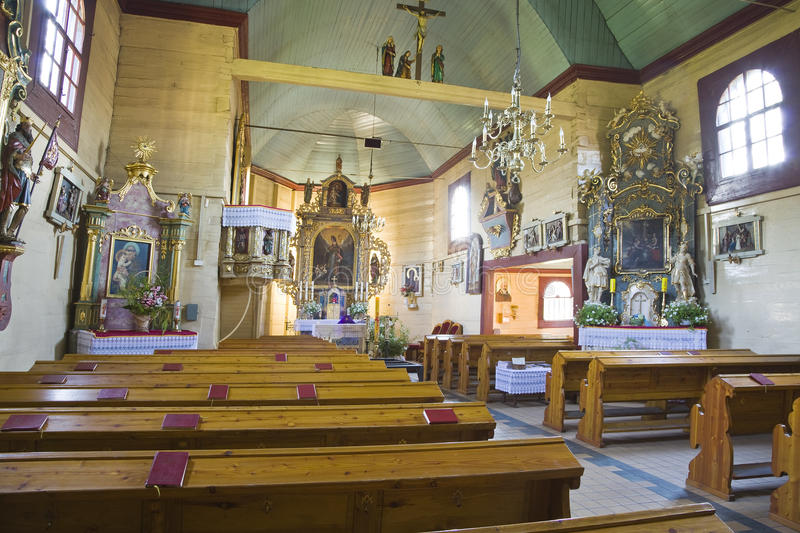 Download Old church stock photo. Image of picture, pews, beautiful - 30499824