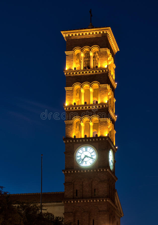 Old church clock tower royalty free stock image