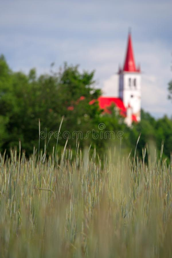 An old church in the countryside. Summer time. royalty free stock image