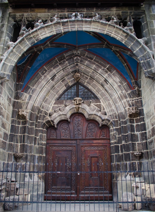 Free Old Church Door Royalty Free Stock Image - 3193126