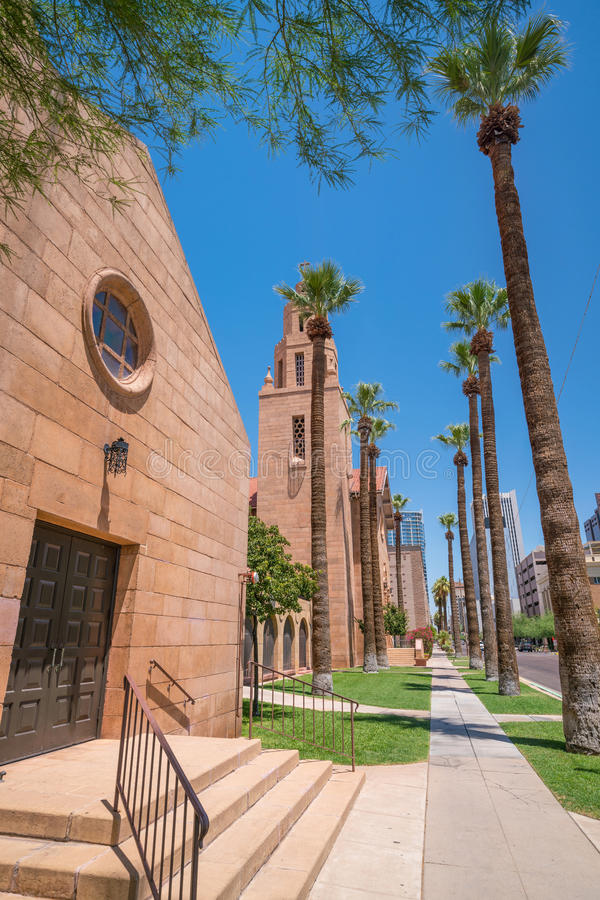 Old Church in downtown Phoenix Arizona royalty free stock photo