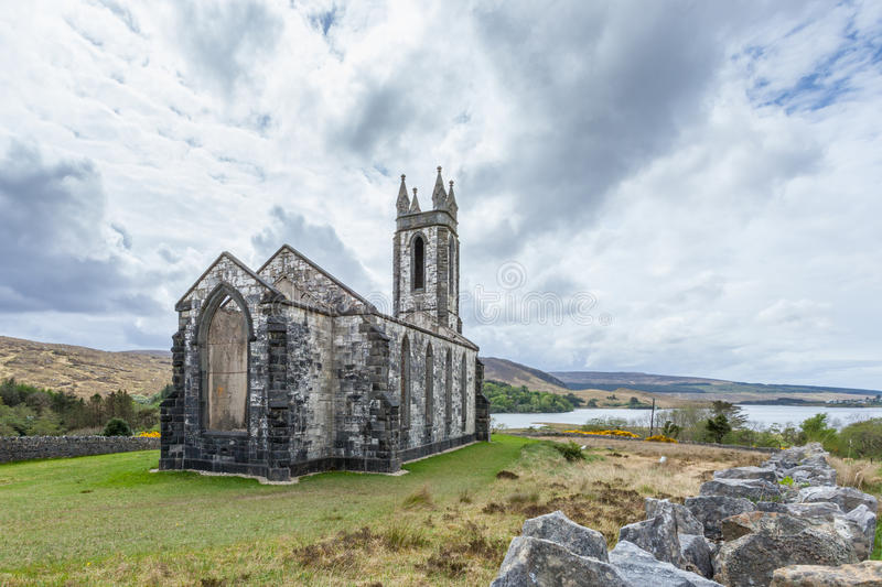 Old Church of Dunlewey royalty free stock photography